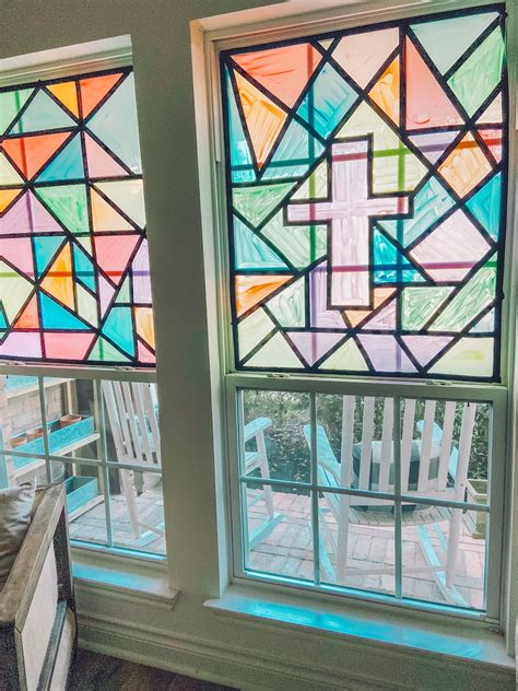 Diy Stained Glass Window Hanging